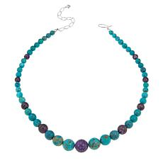 Jay King Turquoise and Purple Charoite 18-1/4 Necklace