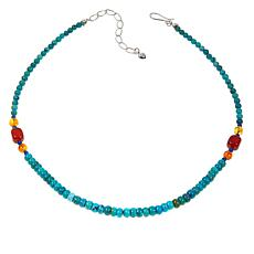 Jay King Turquoise Multigemstone 18 Sterling Silver Necklace