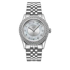 "JBW ""Carina"" Women's Silvertone 12-Diamond Bracelet Watch"