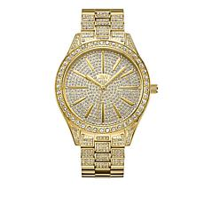 "JBW ""Cristal"" 12-Diamond Goldtone Bracelet Watch"