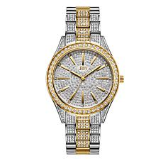 "JBW ""Cristal"" Women's 2-Tone 12-Diamond Bracelet Watch"