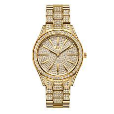 """JBW """"Cristal"""" Women's Goldtone 12-Diamond Bracelet Watch"""