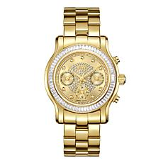 "JBW ""Laurel"" 9-Diamond Goldtone Dial Goldtone Stainless Steel Watch"