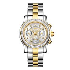 "JBW ""Laurel"" 9-Diamond Silvertone Dial 2-Tone Stainless Steel Watch"