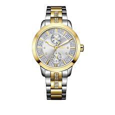 "JBW ""Lumen"" 6-Diamond Silvertone Dial 2-Tone Stainless Steel Watch"