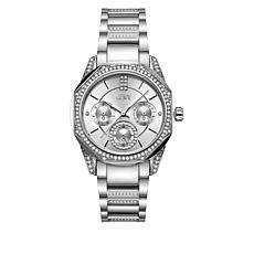 "JBW ""Marquis"" Women's Silvertone Stainless Steel 5-Diamond Watch"