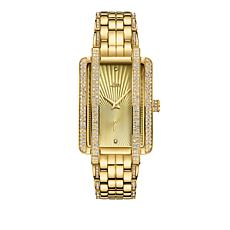"JBW ""Mink"" 12-Diamond Goldtone Stainless Steel Bracelet Watch"