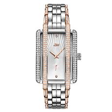 JBW Mink Two-Tone Stainless Steel Diamond and Crystal Bracelet Watch