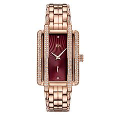 "JBW ""Mink"" Women's 12-Diamond Rosetone Stainless Steel Bracelet Watch"
