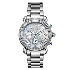 "JBW ""Victory"" 16-Diamond Silvertone Stainless Steel Bracelet Watch"