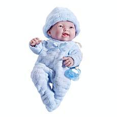 "JC Toys Mini La Newborn First Day 9.5"" Real Boy Baby Doll"