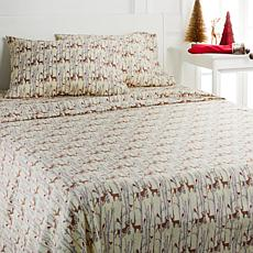 Jeffrey Banks 100% Microfiber Christmas Sheet Set