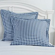 Jeffrey Banks Gingham Set of 2 Euro Shams