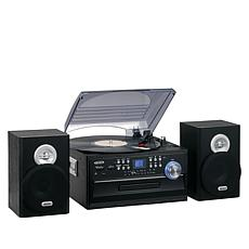 Jensen JTA-475 Stereo 3-Speed Turntable w/Radio, CD & Cassette Player