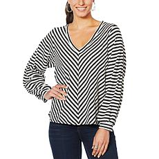 Jessica Simpson Brit Waffle Knit Pullover Top