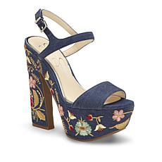 Jessica Simpson Divella2 Embroidered Denim Sandal