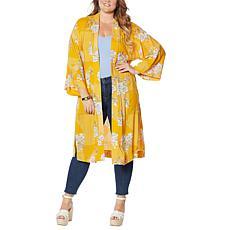 Jessica Simpson Duster-Length Printed Kimono