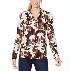 Jessica Simpson Petunia Button-Down Printed Shirt