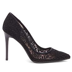 Jessica Simpson Praylee2 Crochet Lace and Mesh Pump