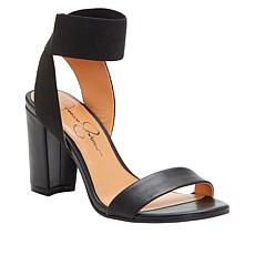 3ebc908190b Jessica Simpson Siesto Leather Block Heel Sandal