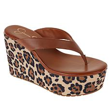 Jessica Simpson Stilla Slip-On Thong Wedge Sandal