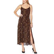 Jessica Simpson Tennyson Leopard-Print Midi Slip Dress
