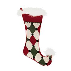 Jester Diamond Needlepoint Stocking