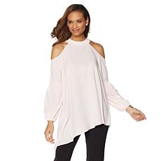 "Jewels by Jen ""Peek-a-Boo 2"" Cold Shoulder Top"
