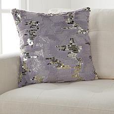"""JM by Julien Macdonald Faux Fur Sequin 18"""" x 18"""" Decorative Pillow"""
