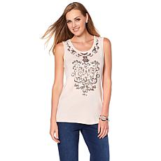 Joan Boyce 2-pack Scoop-Neck Sequin Tank Top