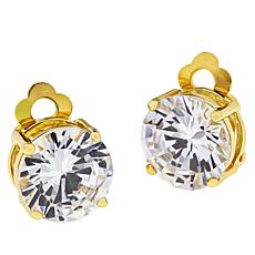 Joan Boyce Cubic Zirconia Round Clip-On Stud Earrings