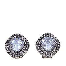 Joan Boyce CZ and Crystal Pavé Cushion Stud Earrings