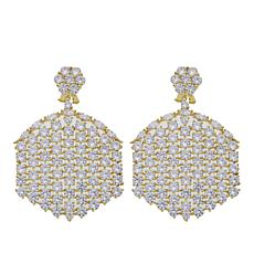 "Joan Boyce Dorothy's ""Just Say Gorgeous"" 36.70ctw CZ Clear Earrings"