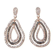 "Joan Boyce ""Edgy in Rosetone"" Pear-Shaped Drop Earrings"