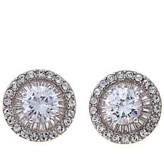 "Joan Boyce Fina's ""Perfect Stud"" Clear Stone Earrings"