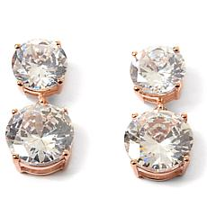 "Joan Boyce ""Glitzerland"" 35.10ctw Clear CZ Drop Earrings"