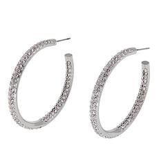 "Joan Boyce ""Live and Love Together"" Slender Hoop Earrings"