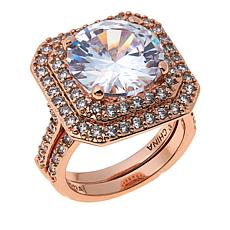 "Joan Boyce Nancy's ""Just Say Yes"" 13.37ctw CZ 2-piece Ring Set"