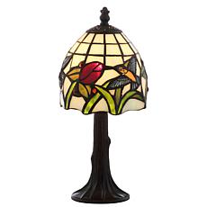 "JONATHAN Y Bronze Hummingbird Tiffany-Style 12"" LED Table Lamp"