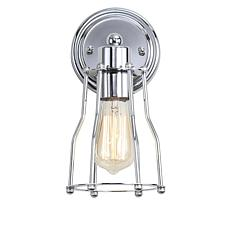 "JONATHAN Y Chrome Evelyn 5.13"" 1-light Metal Vanity Light"