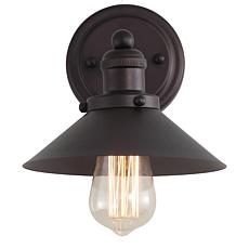 """JONATHAN Y Oil Rubbed Bronze July 7.75"""" 1-light Metal Shade Sconce"""