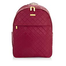 JOY & IMAN Diamond Quilted Couture Nylon Backpack with RFID
