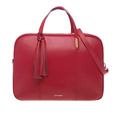 JOY & IMAN Tassel Chic Leather Weekender with RFID