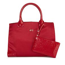 JOY E*Lite Chic TuffTech & Croco-Embossed Tote & Wristlet with RFID