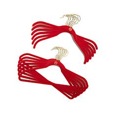JOY Huggable Hangers® 48-pack with Pant/Skirt Clips - Brass