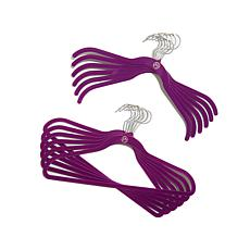 JOY Huggable Hangers® 48-pack with Pant/Skirt Clips - Chrome