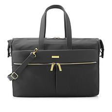 JOY Lightweight Nylon TuffTech™ Luxury Pinstripe Weekender with RFID