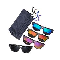 JOY SHADES Bifocal Sunglass 8pc Set with Mirror Lenses