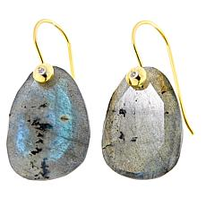 Joya Goldtone Labradorite Drop Earrings