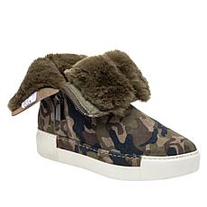 J/Slides NYC Victory Suede Camo Sneaker Bootie